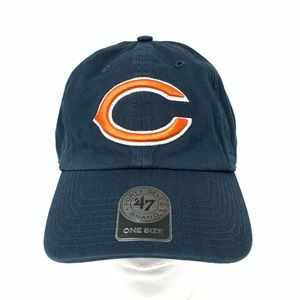 Chicago Bears Football Adjustable Dad Hat Blue OS